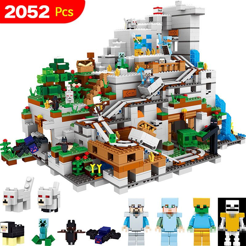 My World Series Best Educational Building Blocks For Toddlers Iron Golem Clever Toys Compatible LegoINGlys Minecrafter 2052 Pcs