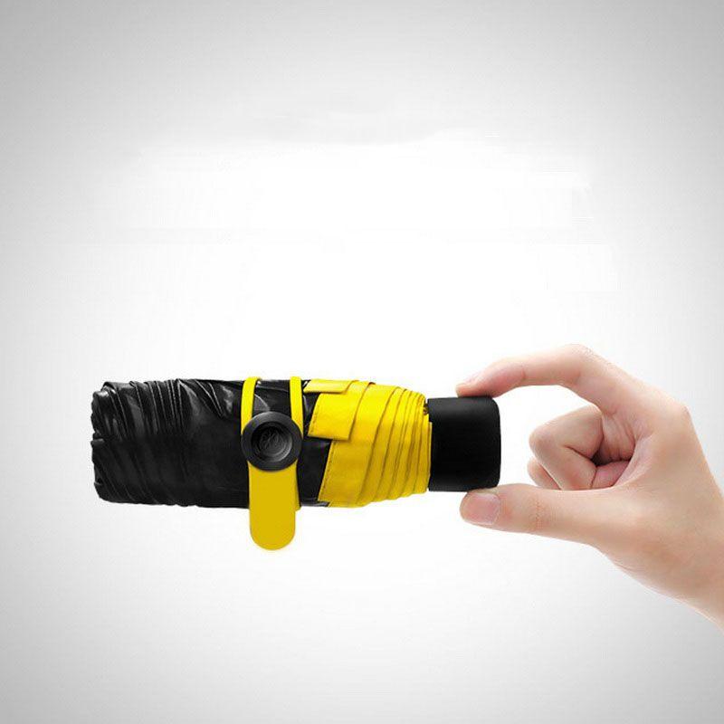 Высокое качество Mini Pocket Зонтик Для женщин Солнечный дождливый мода Ясно складной компактный дождь зонтик оригинальной маленькой утка Лебе...