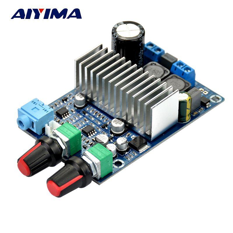 Aiyima DC12-24V TPA3116 сабвуфер Усилители домашние доска Поддержка 100 Вт бас Выход обновлен