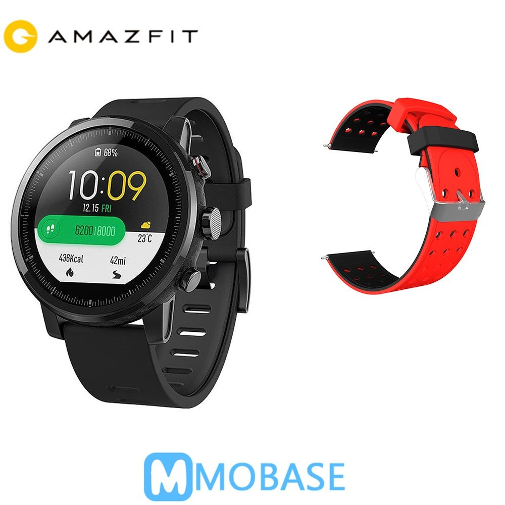 Spanish Ship Huami Amazfit 2 Amazfit Stratos Pace 2 GPS Smart Watch Men Watches PPG Heart Rate Monitor 5ATM Waterproof