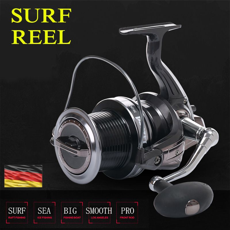 9000/10000 size full metal spool Jigging trolling long shot casting for carp and salt water surf spinning big sea fishing reel