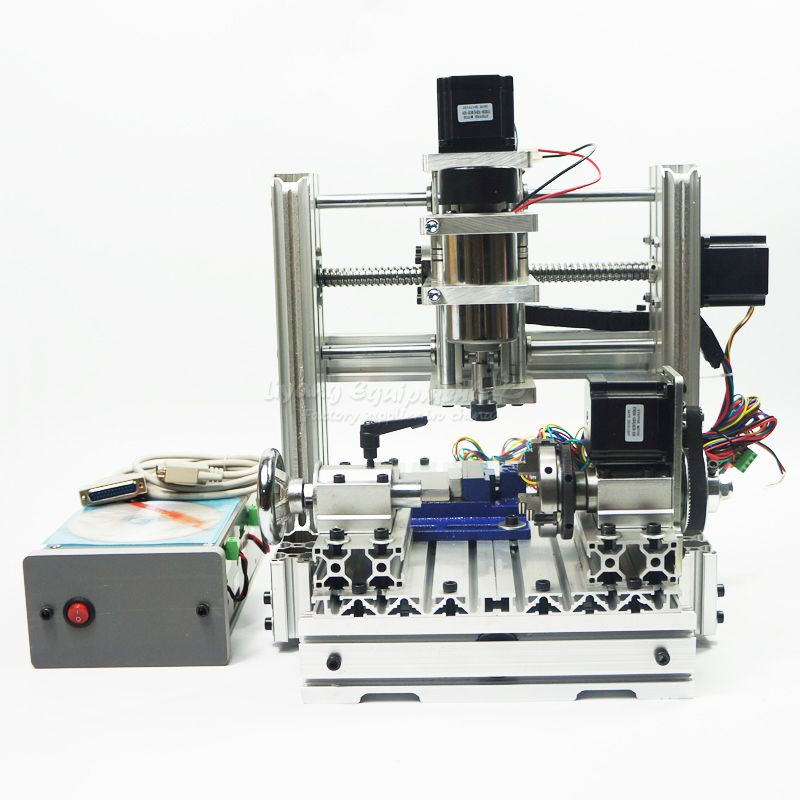 Mini CNC Engraving machine DIY 2520 4axis cnc router for wood metal stone carving