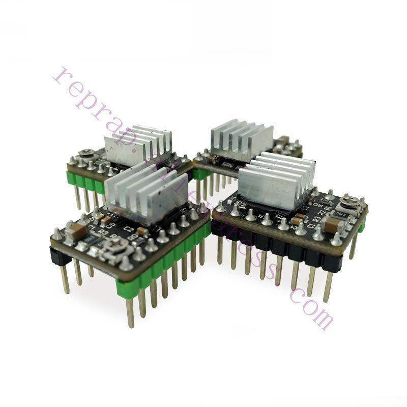 4pcs 3D printer improved MKS DRV8825 stepper motor driver module 4-layer PCB + heatsinks for MKS controller, Ramps 1.4