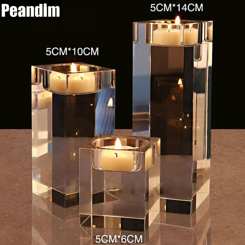 PEANDIM Religious Candle Holders Small Tealight Candlestick 6cm 10cm 14cm Wedding Decorations Dinner Desk Table Centerpieces