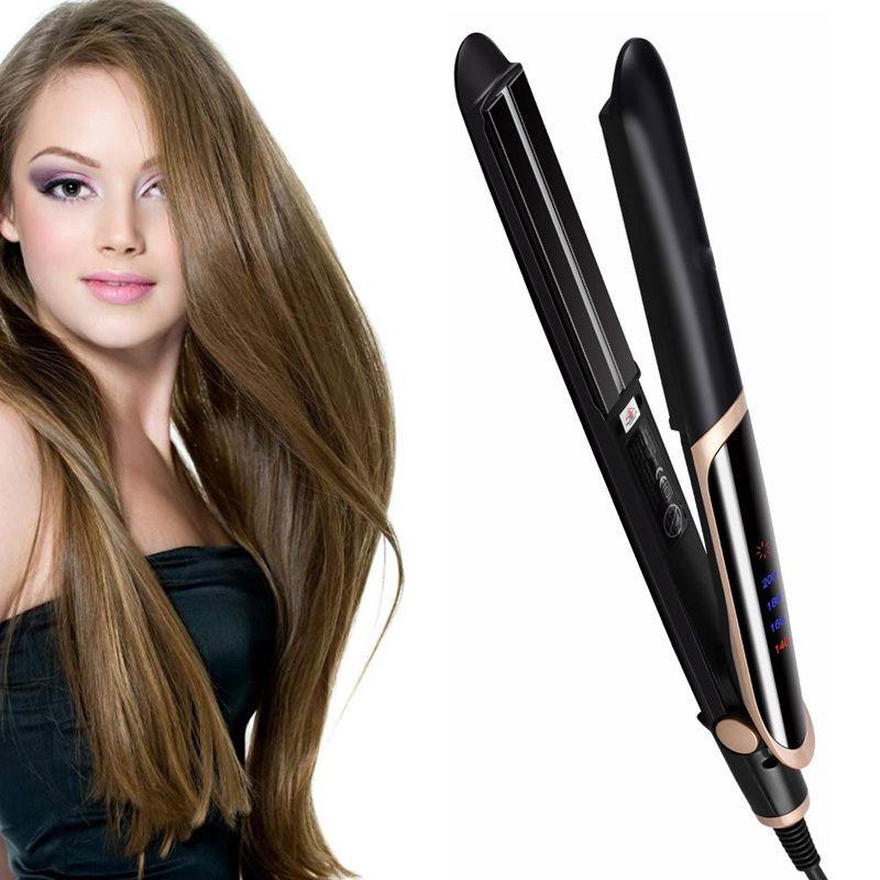 LED infrarouge défriser les cheveux bigoudi fer plat Ion négatif défriser les cheveux fer à friser ondulation outil de coiffage