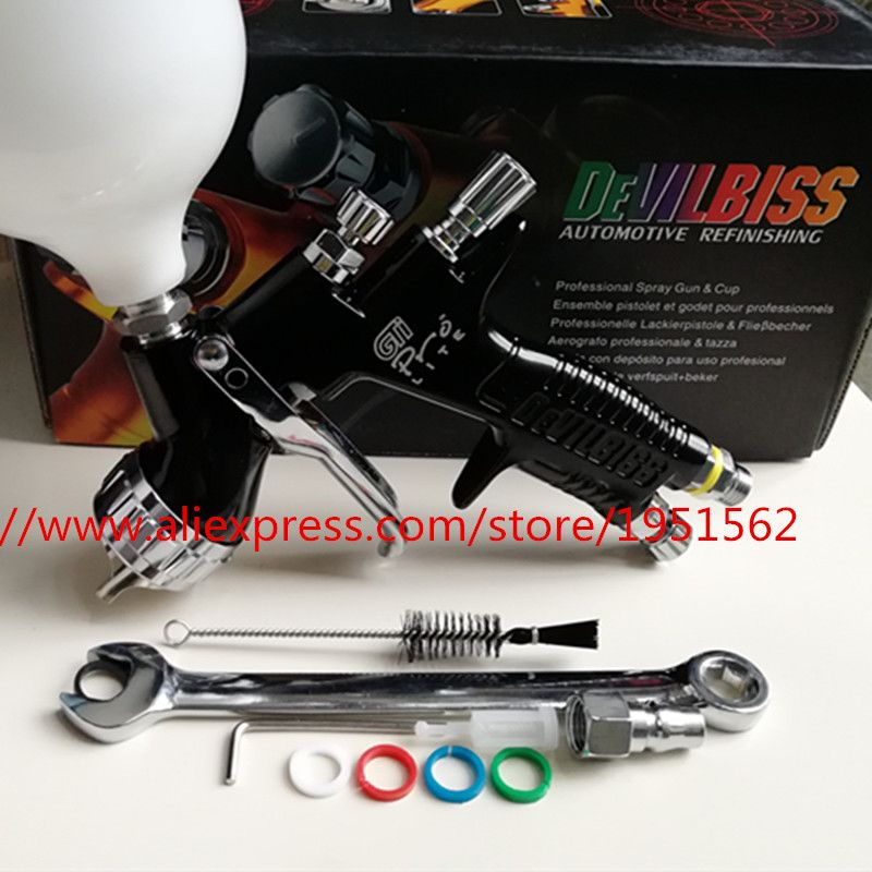 spray gun T110 GTI pro lite black paint gun water based automotive guns professional car paint