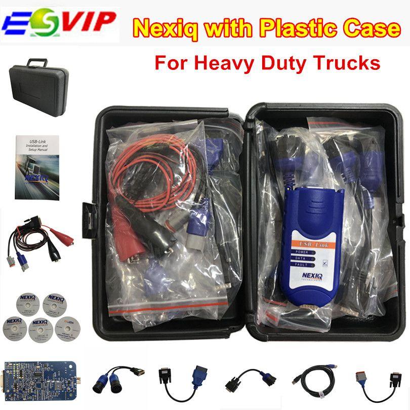 Hot Sale NEXIQ Auto Heavy Duty Truck Scanner tool NEXIQ USB Link no bluetooth nexiq 125032 usb link NEXIQ-USB LINK DHL Free