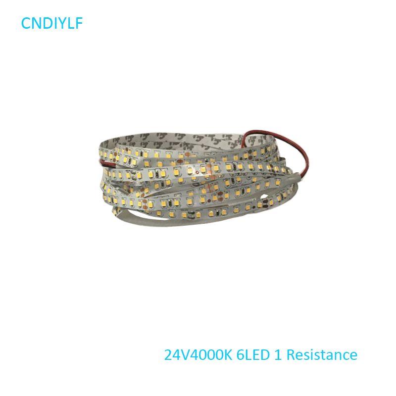 Expédition rapide Via Regisitered Air Mail LED Lumière Bande 24 v 5 m 4000 k 70 w 2835 SMD LED pas Étanche 5 m/Package