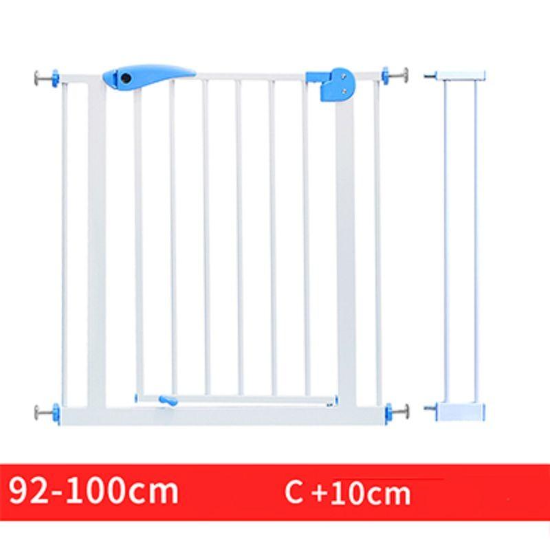 66 ~ 84cm Babysafe fer porte enfant bébé escalier clôture Pet chien grille garde-corps isolant jardin porte hauteur 100cm peut ajouter étendre clôture