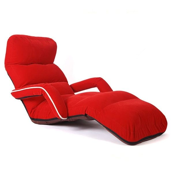 Chaise Lounge Chairs for Bedroom Adjustable Foldable Soft Suede Recliner Chair 6 Colors Sofas and Armchairs Discount Lounger