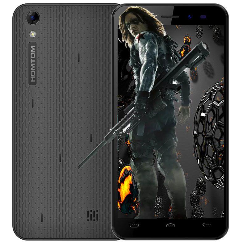 D'origine Homtom HT16 5.0 pouces Smartphone Android 6.0 MTK6580 Quad Core 1.3 GHz 1 GB + 8 GB 3G smartphone 8MP Caméra Mobile Téléphone