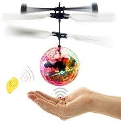 Mini Drone RC Pesawat Helikopter Terbang Bola Terbang Mainan Bola Shinning Lampu LED Quadcopter Drone Terbang Helikopter Mainan Anak