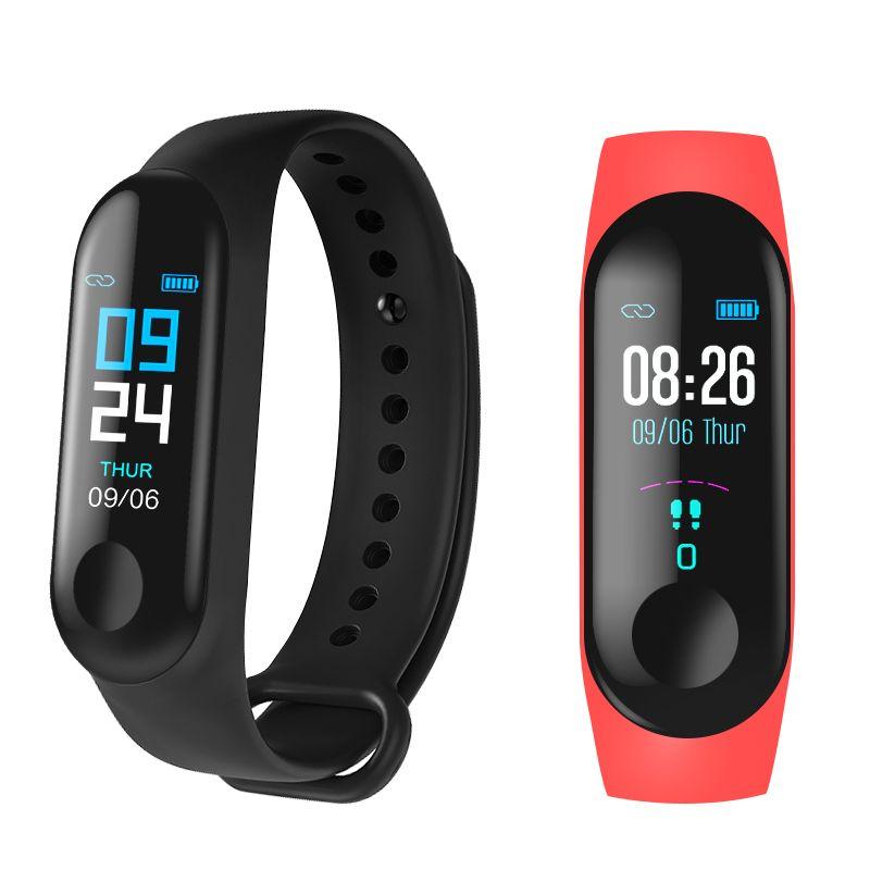 M3 bande intelligente Sport Bracelet Tracker de remise en forme reloj inteligente Bracelet moniteur 0.96 pouces moniteur de fréquence cardiaque bande intelligente