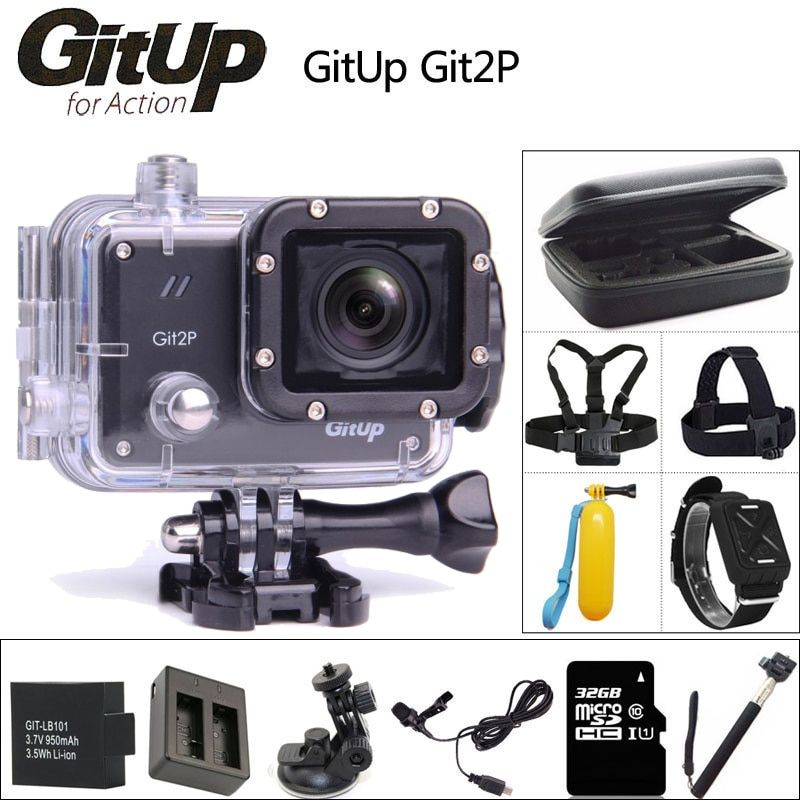 Original GitUP Git2P Sports Action Camera 2K Wifi Full HD 1080P 30M Waterproof Camcorder 1.5 inch Novatek 96660 Git2 P PRO Cam