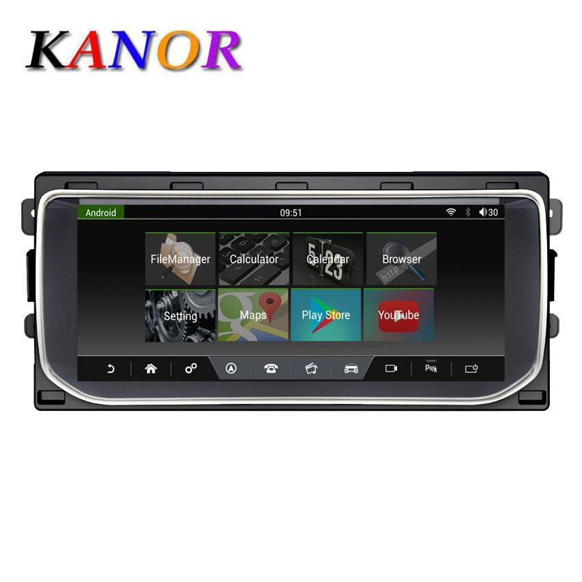 KANOR Multimedia Navigation GPS Für Ranger Rover Sport Bluetooth Android 7.1 Radio Dashboard DVD Player 10,25
