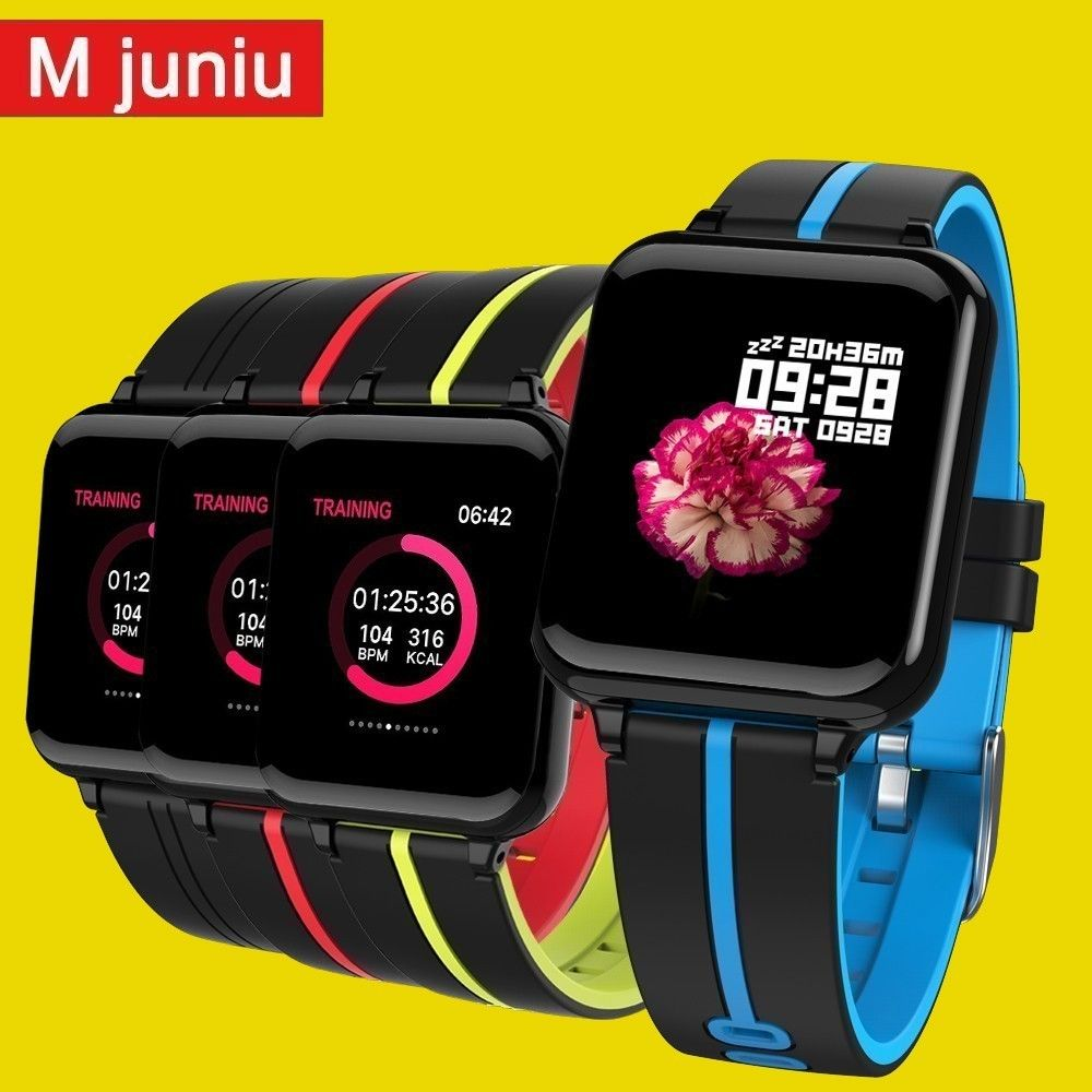 B57 Women Smart watches Waterproof Sports For Iphone phone Smartwatch Heart Rate Monitor Blood Pressure Functions clock