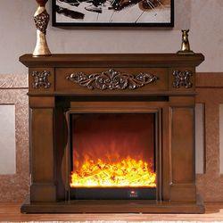 Sala de estar warming chimenea W120cm madera chimenea eléctrica chimenea LED óptica llama artificial