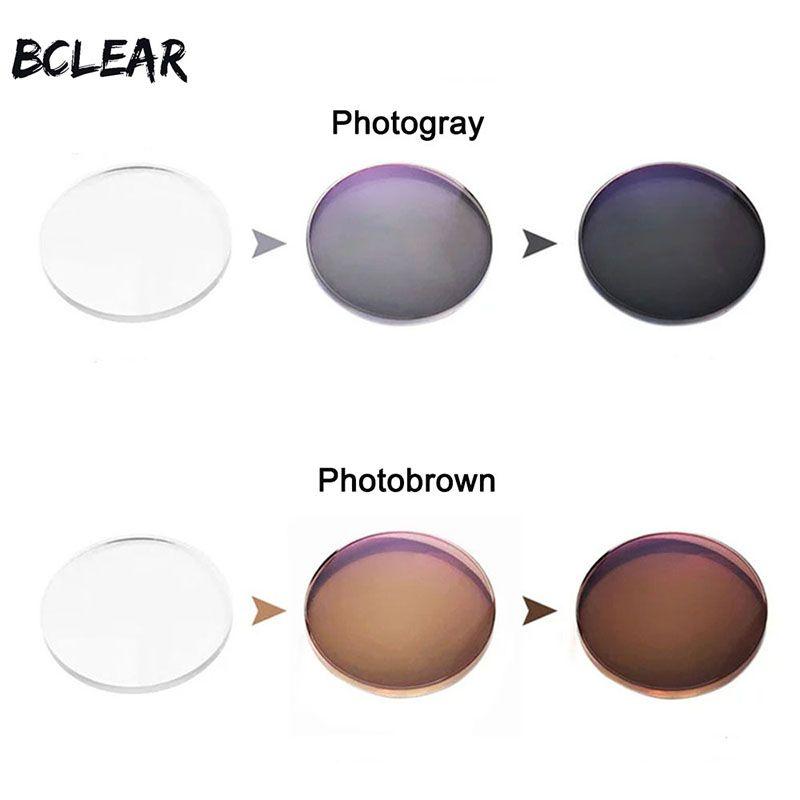 BCLEAR 1.56 Transition Photochromiques Lunettes Optique Lentilles Myopie Presbytie Lunettes De Soleil Single Vision Objectif Gris Brun Caméléon