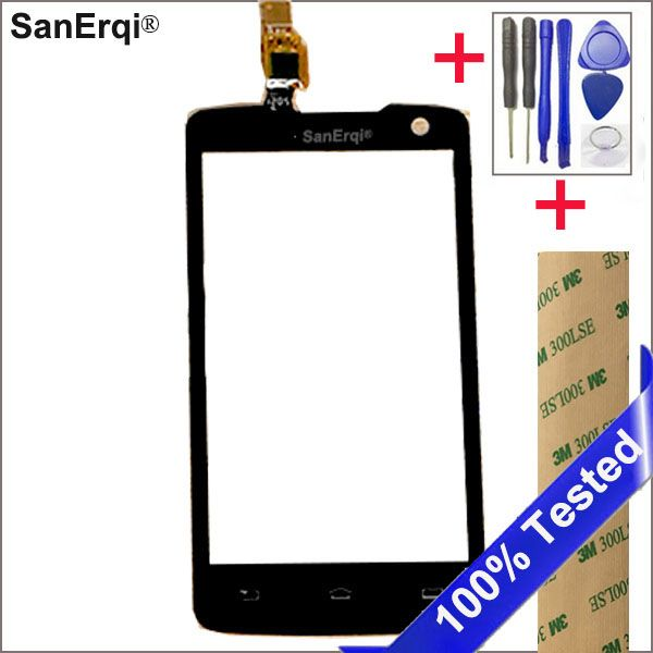 SanErqi Touch Screen  Sensor For PHILIPS W732 Touch Screen Digitizer Front Glass Lens Sensor Touchscreen With Sticker