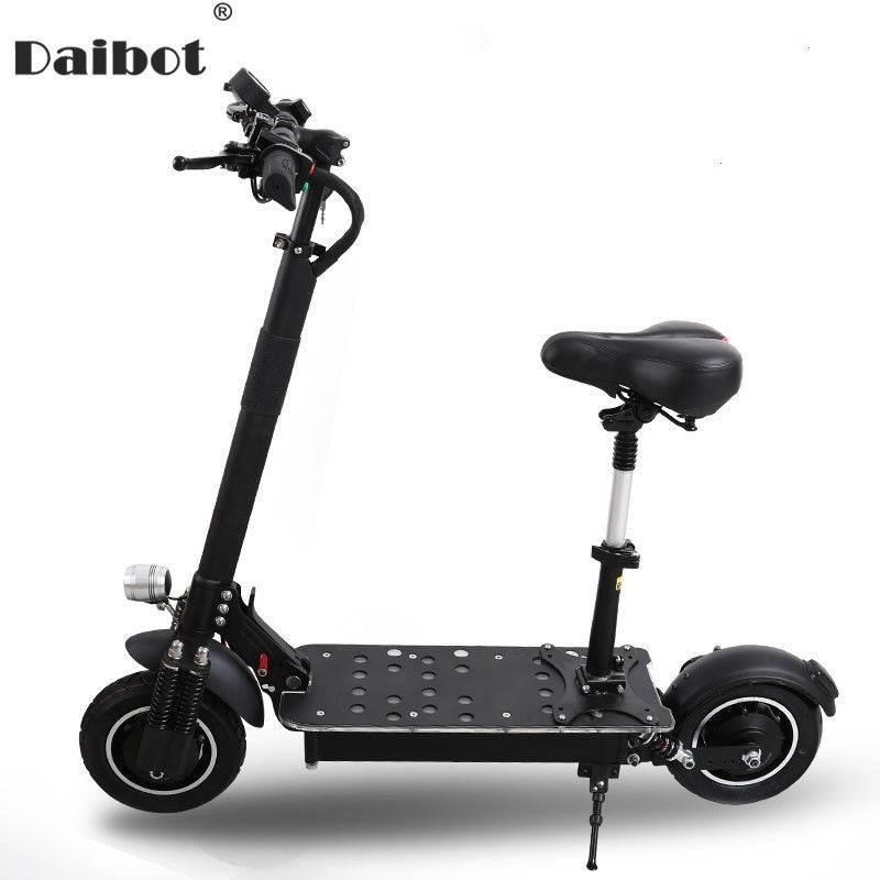 AQIHO Powerful Electric Scooter 10 Inch 52V/60V Electric Scooters Double Drive with Oil Brake Adult Electric Scooter 2000W