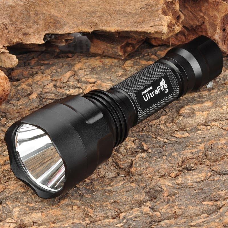 UltraFire C8 800lm 5-режим белый свет xm-l T6 светодиодные лампы фонарик Фонарь Факел c8 + 1*18650 4000 мАч Батарея + 1 * Зарядное устройство