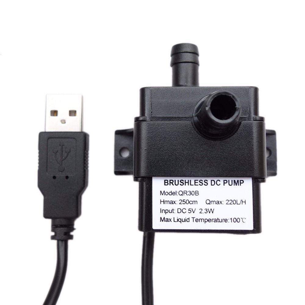 Professionelle Geräuscharm QR30B DC 5 V 2,3 Watt 220L/H Volumenstrom Wasserdicht IP68 Cpu-kühl Car Brushless Wasserpumpe Heißer Verkauf