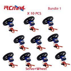 10PCS/lot Feetech FS90R Servo and Wheel 360 Degree Continuous Rotation Micro RC Servo For Robot RC Car Drones FZ0101-01 FZ2913