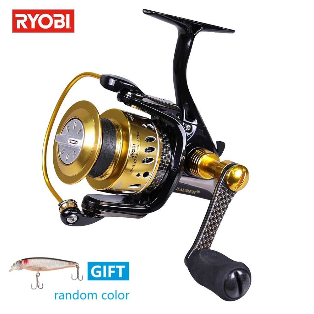 RYOBI ZAUBER CF 3000 Spinning Reel Carp Fishing Carbon 5.0: 1 Carretilhas De Pescar 8+1BB Smooth Fishing Line Reel 100% Original