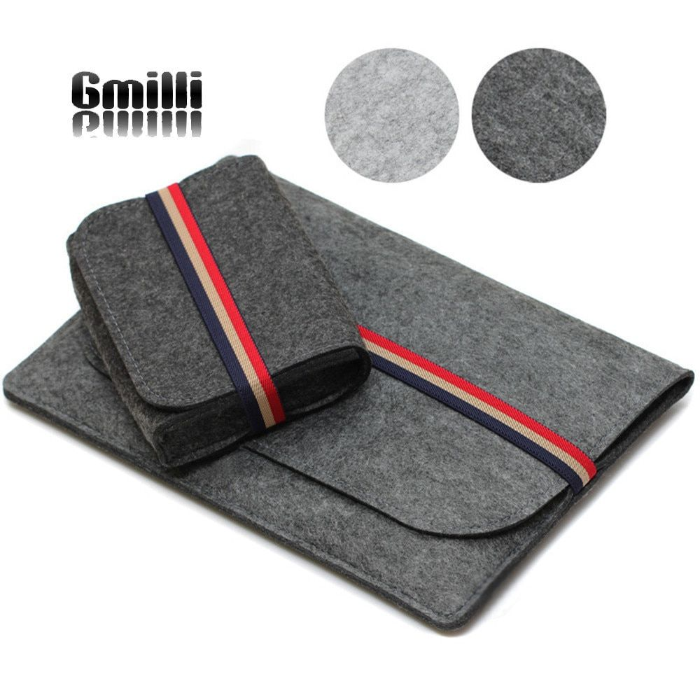 Gmilli housse de protection en feutre de laine Ultrabook pochette sac housse d'ordinateur portable étui pour Macbook Pro/Air/Retin 11