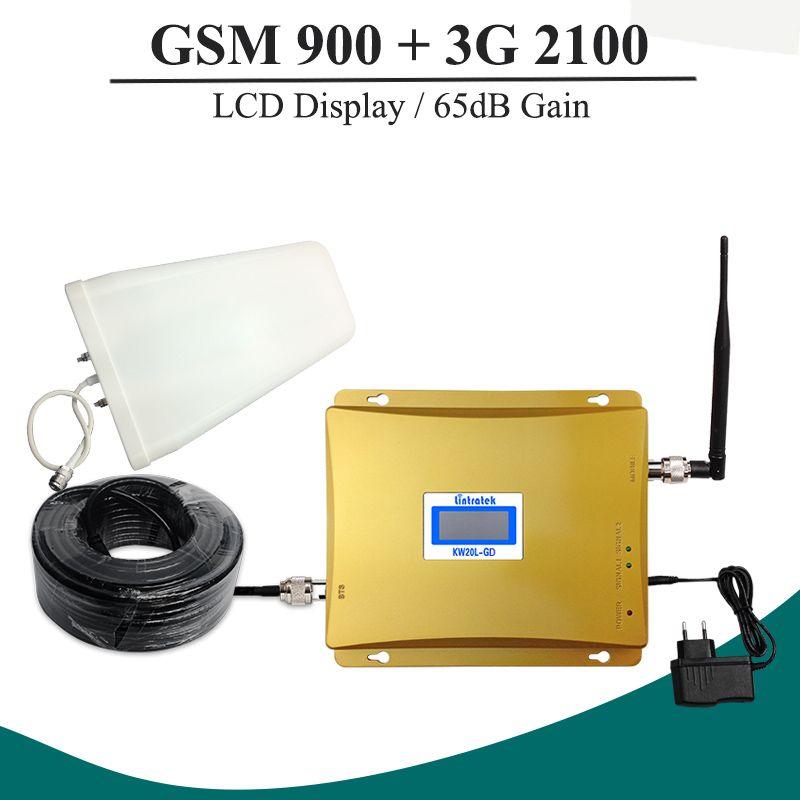 Full Kit GSM 900 3G Zellulären Signalverstärker GSM 900 mhz 3G UMTS 2100 mhz Mobilen Verstärker WCDMA 2100 Dual Band Repeater Extender