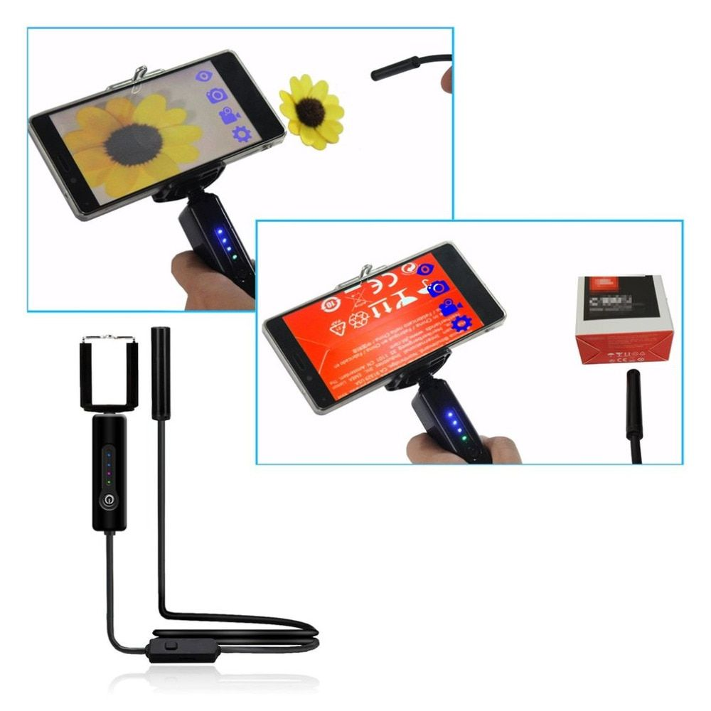 Handheld 8.0mm 1.3 MP Wifi Endoscope Camera IP67 Soft Cable Tube Pipe Borescope Camera Endoscope For Android For Iphone