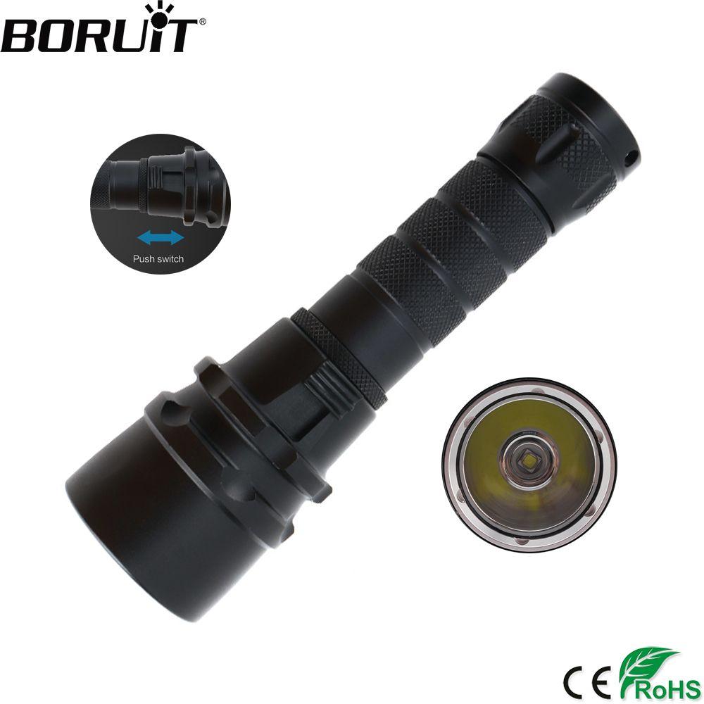 BORUiT 2000LM XML T6 LED Plongée sous-marine lampe de Poche Sous-Marine 80 m En Plein Air Torche Diver Portable Lanterne par 18650 Batterie