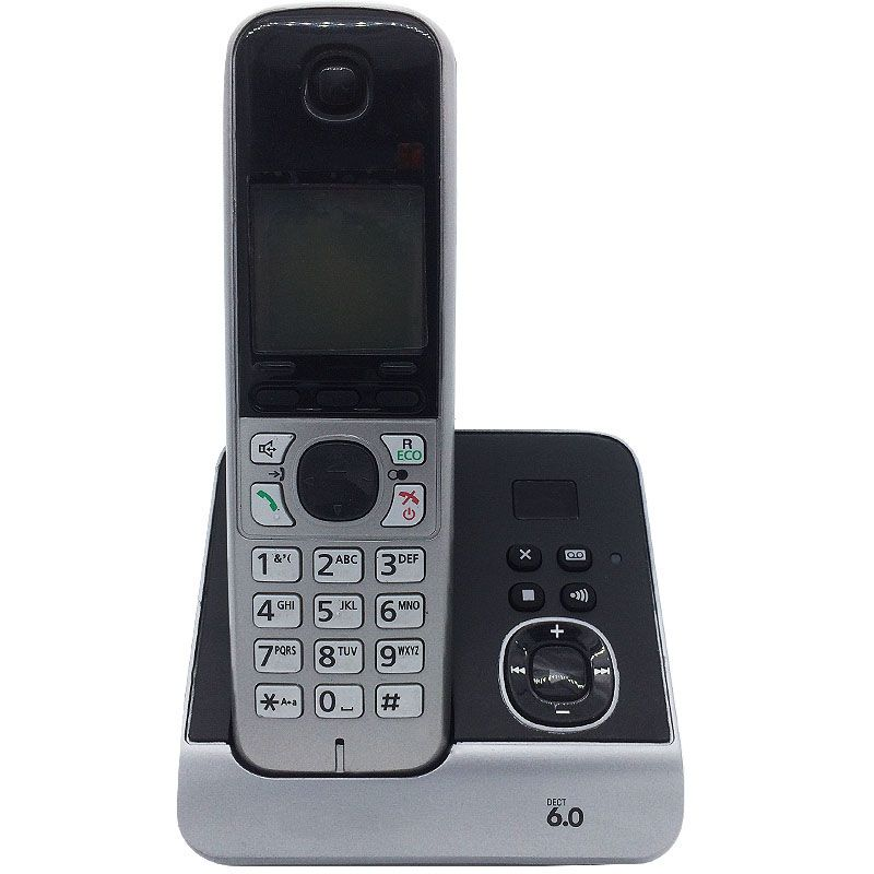 Dect 6.0 Digital Cordless Phone With Answer System Call ID White Backlit LCD Wireless Cordless Fixed Telephone For Home
