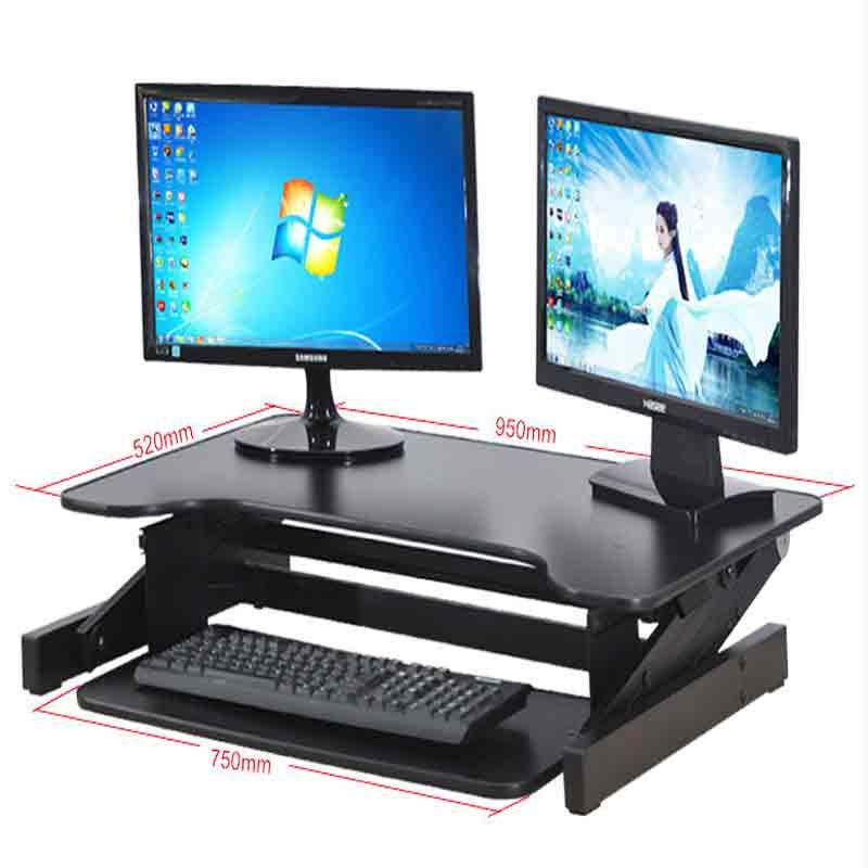 Desk Height-Adjustable Table Desk for Computer or TV Standing Home Office Computer Work Space Sit Or Stand 30