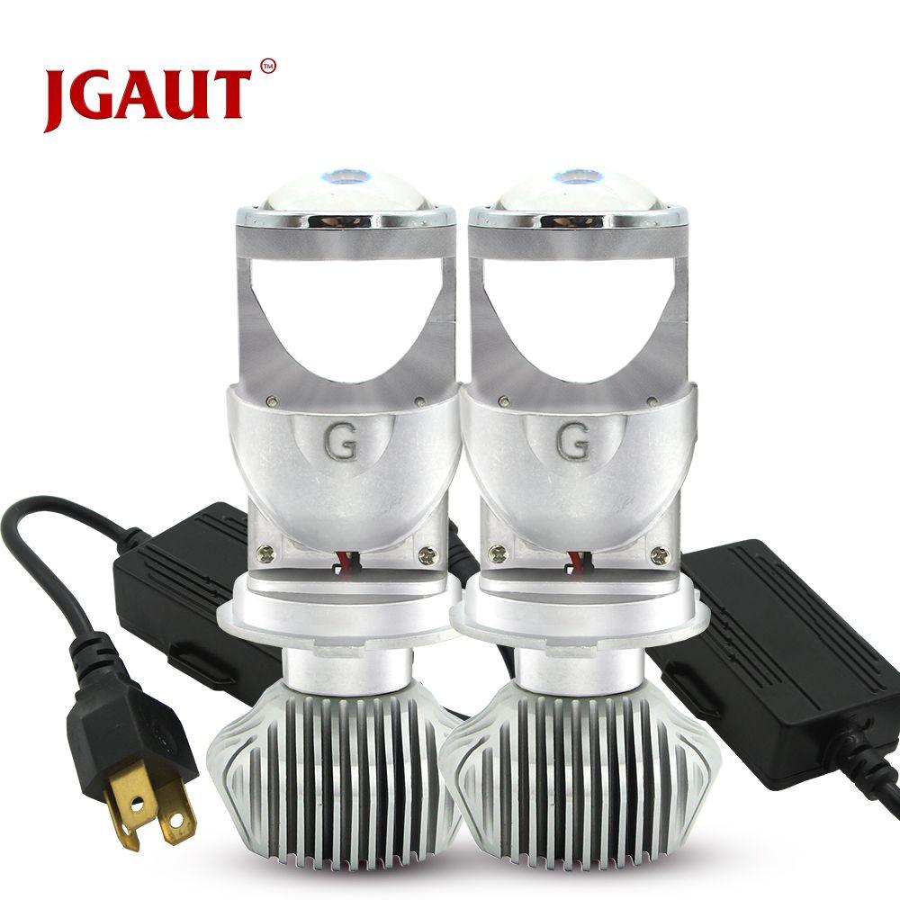 100W/Pair Lamp H4 LED Mini Projector Lens Automobles LED Bulb LED Conversion Kit Hi/Lo Beam Headlight 12V/24V 6000K HID
