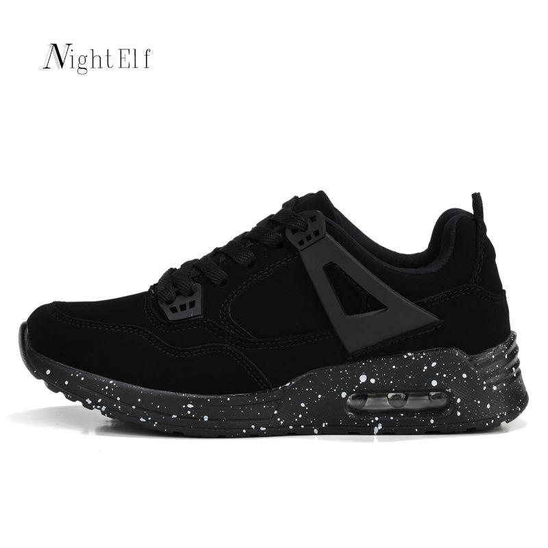Night Elf mujeres zapatillas respirables del acoplamiento del aire para las mujeres de alta calidad Zapatos de deporte negro mujer gimnasio entrenadores zapatos caliente