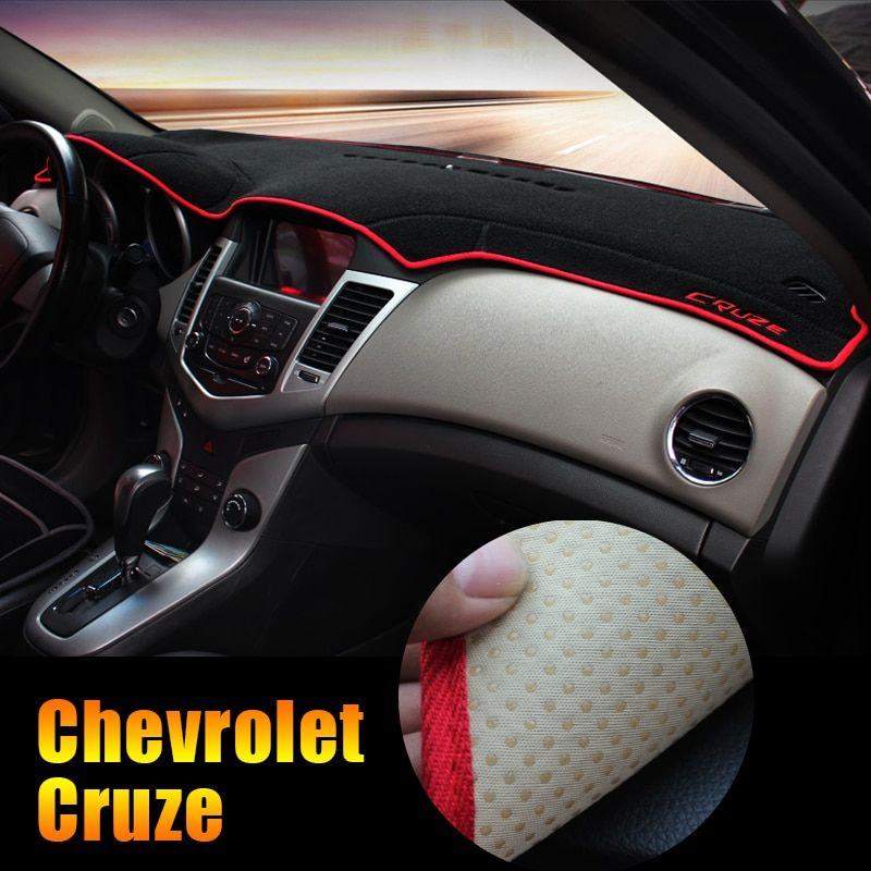 For Chevrolet Cruze 2009-2014 2015 2016 2017 2018 LHD Car Dashboard Pad Instrument Platform Desk Avoid Light Mats Cover Sticker