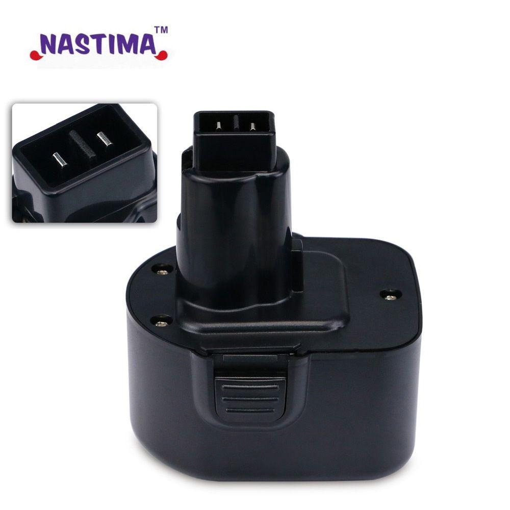 NASTIMA Ni-CD 12 V 2100 mAh Remplacement Batteries Perceuse sans fil Pour dewalt de9074 DW9071 DW9072 DC9071 DE9037 DE9071 DE9072