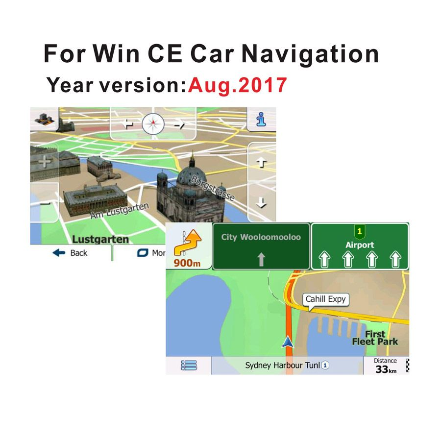 Universal 8G gps maps Micro sd card latest 2018 Map for WinCE car dvd navigation map Europe 49 countries all around the world