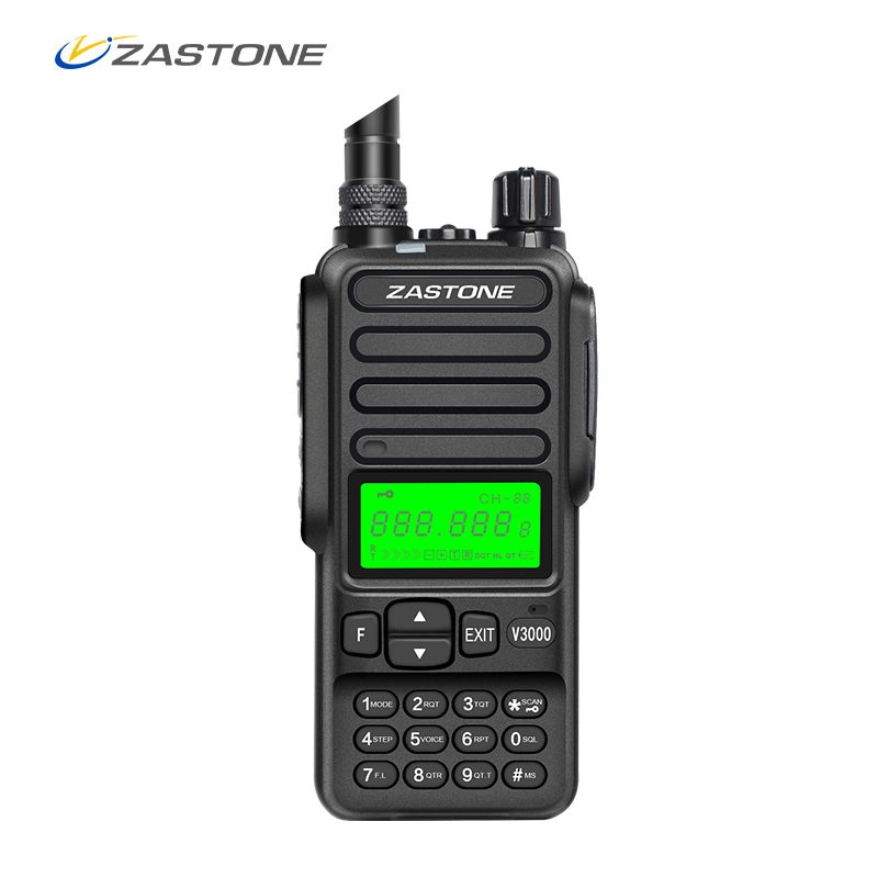 Zastone V3000 8W 10km 400-470 MHz Portable UHF Handheld Two Way Ham Radio Communicator HF Transceiver 4000mAh Battery
