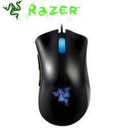 Razer ratón original Deathadder 3500 DPI Gaming mouse 3.5g sensor infrarrojo diestro USB cableado ordenador Ratones sin paquetes
