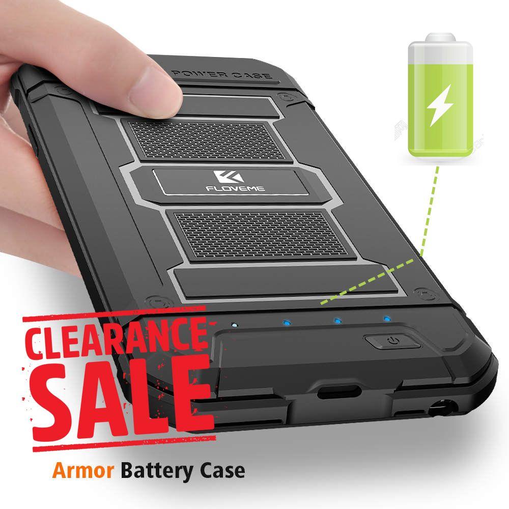 FLOVEME Batterie Chargeur Cas Pour iPhone 8 8 Plus X Affaire de La Banque D'alimentation pour iPhone 6 6 S 7 Plus X Couverture Armure Chargeur Power Bank Couverture