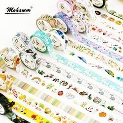 15mm X 7m Cute Lotkawaii Flower food animals  Decorative Washi Tape DIY Scrapbooking Masking Tape School Office Supply