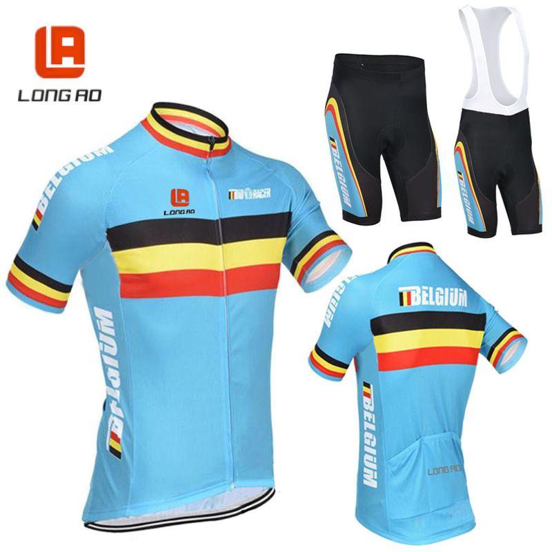 LONG AO Ropa Ciclismo Belgium Cycling Jersey shorts sleeves cycling tops road bike cycling suit comfortable <font><b>bicicleta</b></font> wear