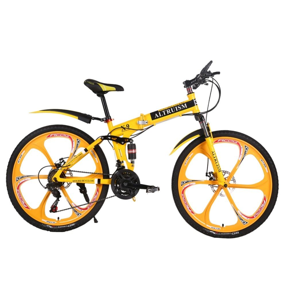 Altruism X9 Folding bicycles for 21 speed Steel mountain bike unisex children 26 inch mountain bikes bicycle