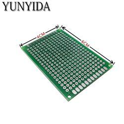 12-04 Бесплатная доставка 5 шт. 4x6 см Double Side Прототип PCB Универсальный печатные платы
