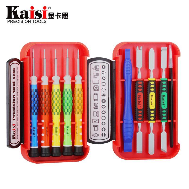 Kaisi 10 en 1 tournevis de précision définit des outils outils de réparation d'ordinateur professionnel réparation de téléphone portable pour iPhone 4,4 s, 5 s, 6s