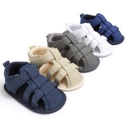 Été Nouveau-Né Bébé Garçons Casual Respirant Évider Respirant Bébé Pantoufles Prewalker Sandale Chaussures Nouvelle Arrivée Nouvelle Arrivée