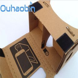 Ouhaobin 6 inch DIY For Google Cardboard 3D VR Virtual Reality Glasses Hardboard