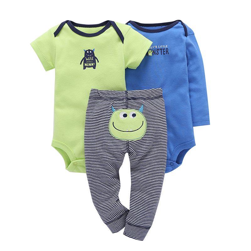 Ensemble bébé ensembles dessin animé monstre bébés vêtements de haute qualité 2019 nouvelles combinaisons de coton pour les nouveau-nés bébé garçon fille vêtements costumes